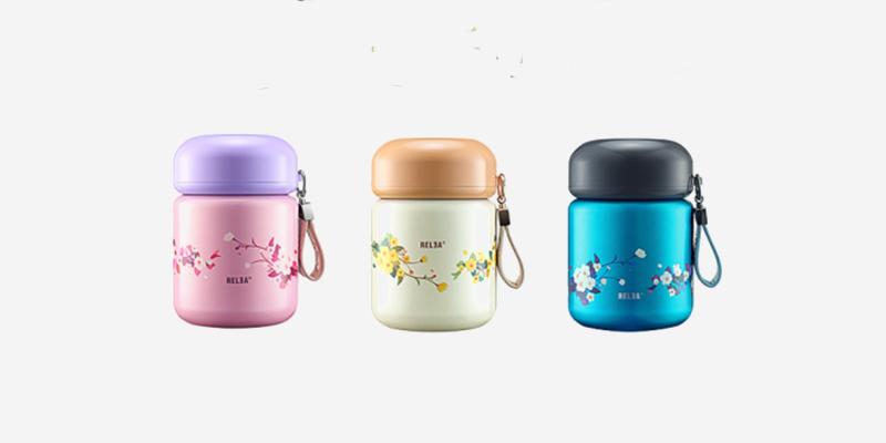 物生物(RELEA)焖烧杯便携小型保温桶闷烧罐女学生便当盒