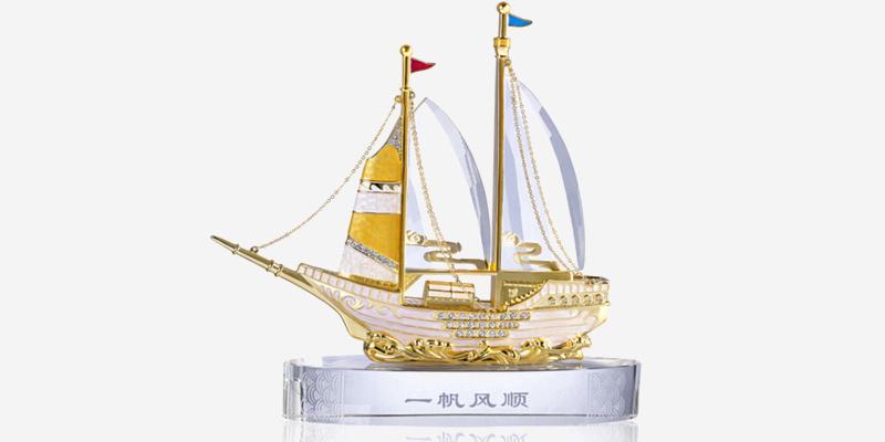 罗比罗丹一帆风顺帆船商务礼品送长辈领导礼物办公室工艺品